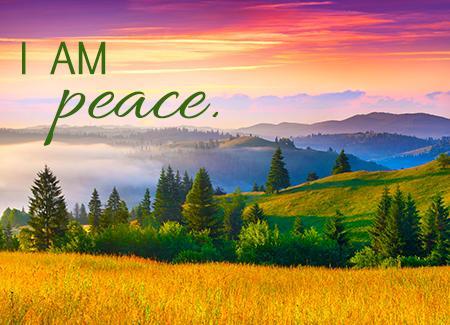 I AM peace.